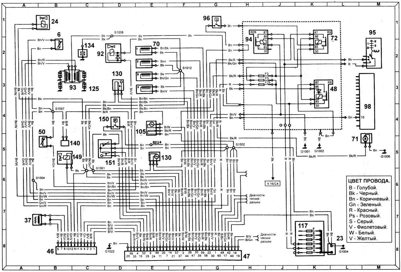 схема блока управления zetec