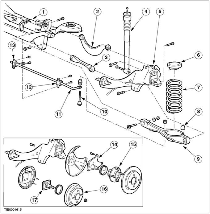 Форд фокус 1 задняя подвеска схема