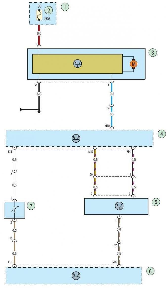 форд фокус электрическая схема запуска двигателя
