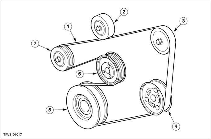 Как поменять ремень генератора на форд фокус
