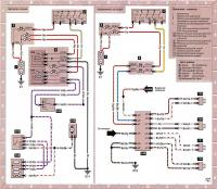 12.49 Электросхема 17: Вентилятор отопителя и радиоприемник/магнитофон