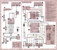 12.50 Электросхема 18: Приборный щиток (часть), электроприводы зеркал и люка крыши