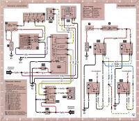 12.53 Электросхема 21: Электропривод стеклоподъемников и противоугонная сигнализация