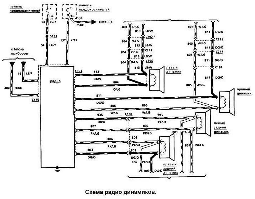 Схема подсветки приборной панели на ваз 2110